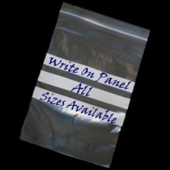 Write-on gripseal bag - 102 x 140 mm (4 x 5.5) 50mu (200g)